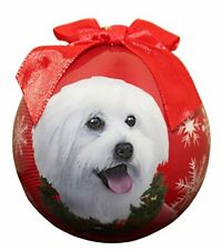 """Maltipoo Christmas Ornament"" Shatter Proof Ball Easy To Personalize"