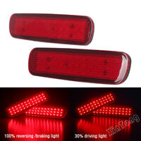 2x Rear Bumper Reflector LED Brake Light For Lexus LX470 Toyota Land Cruiser AU