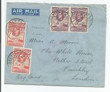 GOLD COAST 1946 KING GEORGE V COVER WITH PRESTEA CANCEL ON DEFINITIVES 805