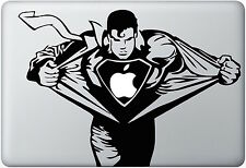 SUPERMAN Macbook Skin Decal Sticker SUPERMAN RUNNING SUPER HERO MAN Laptop