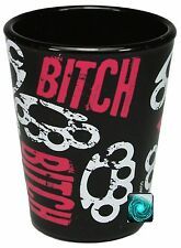 Funny Shot Glasses - Bitch with Brass Knucles - Brand New