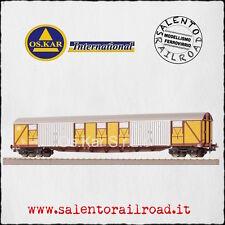 OS.KAR 4115 carro merci lungo FS (logo televisore) Tipo Gabs livrea giallo miele