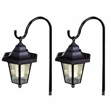 2 x SOLAR CLASSIC LED SHEPHERD HANGING GARDEN LANTERNS COACH OUTDOOR LAMP LIGHTS
