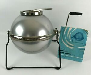 Vintage Kamome Home Camping Washer Tabletop Ball Washer Style with Hand Crank