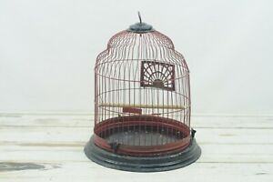 Bird Cage Antique/Vintage Red and Black Birdcage Fabulous Patina
