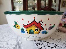 "Mary Engelbreit Gaetano Pottery USA Large 10.5"" Round Mixing Bowl-Rare!"