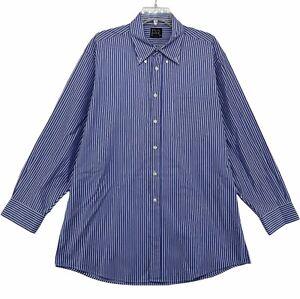 Jos. A. Bank Men's Long Sleeved Dress Shirt Size 16 1/2 - 33 Large Blue Striped
