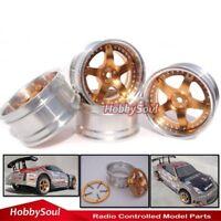 4pcs RC 1/10 Alloy Rim Wheel Hex 12mm Fit RC 1:10 On Road Drift Touring Car tire