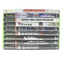 Original XBox Nine Game Lot Bundle NFL Head Coach Need For Speed Halo 2 NCAA 07
