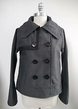 LULULEMON Coco Softshell gray and black pea coat jacket size 6 WORN ONCE