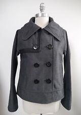 LULULEMON Coco Softshell gray and black pea coat jacket size 6 WORN ONCE