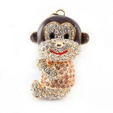 Year of the Monkey Sitting Keychain Crystal Charm Cute Animal Purse Gift 01303