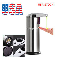 US STOCK!Stainless Hand Free Automatic IR Sensor Touchless Soap Liquid Dispenser