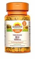 Sundown Vitamin B-12 1000 mcg, 120 Time Release Tablets 120 Count