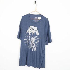 STAR WARS T.V. Graphic T Shirt Blue | XXL