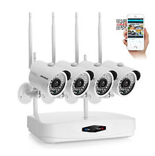 ANNKE WLAN 4CH NVR 720P HD Video Wireless 1.0MP Home Security Camera System 36IR