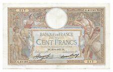 Billet France 100 Francs 1933