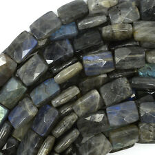 "14mm faceted grey labradorite rectangle beads 15.5"" strand"