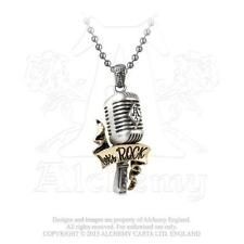 Let's Rock Pendant - Radio Microphone, Alchemy Gothic UL13 English Pewter