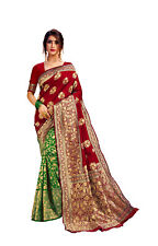 Women Special Wear Indian Wear Poly Cotton Designer Sari Bollywood Sari A 42-4