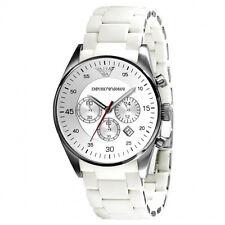 Emporio Armani Sport Silicone Chronograph Silver Dial Men's Watch AR5859