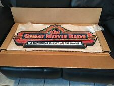 NEW Disney Parks GREAT MOVIE RIDE Marquee Wall Plaque Sign IN HAND NOW