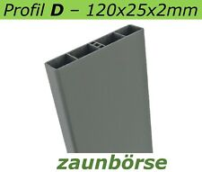 "Musterstück - Kunststoffbretter D (120x25x2mm) ""basaltgrau"" Profiware -Geländer"