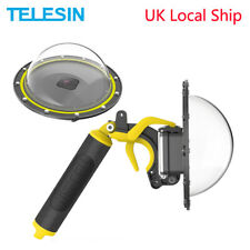 TELESIN 6'' 30M Underwater Dome Port + Floaty Hand Grip Trigger for GoPro Hero 8