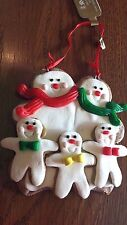 CHRISTMAS Gingerbread Cookie ~ FAMILY OF 5~ ORNAMENT Xmas Tree Decoration ~~ NEW