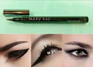 Mary Kay LIQUID EYELINER PEN Precision Tip Fine Line or Cat Eye BLACK Full Size