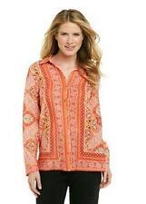 Rafaella Women's SMALL Printed Tunic Shirt Top Multicolored