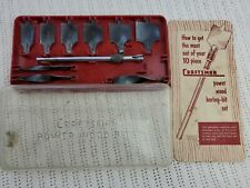 Craftsman Power Wood Boring Bits 10 Piece set Vintage wood tools