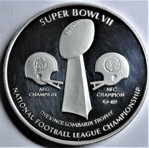 VII.US Super-Bowl Jan14th 1971 in Los Angeles Fine-Silver-Medal PP Proof capsule