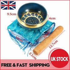 More details for meditation healing singing bowl with cushion striker tibetan buddhism relaxation