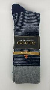 Father's Day Gold Toe Fashion Mens Dress Socks 3 Pairs Pack Assortment Sz: 6-12