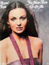 """CRYSTAL GAYLE """"YOU NEVER GAVE UP ON ME"""" SHEET MUSIC-VERY RARE-NEW-MINT CONDITION"""