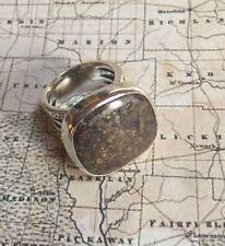 SILPADA R1738 Sterling Silver Bronzite Stone Ring  Size 7 $89