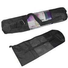 Portable Yoga Pilates Mat Nylon Bag Carrier Mesh Center Adjustable Strap Belts