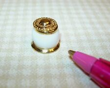 Miniature Patsy-Mac White Porcelain Body Cream Jar for DOLLHOUSE 1:12 Scale