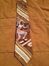 "Americana Series For Dillards: Touch Down Stripe Tan Football Tie - 61"" Long"