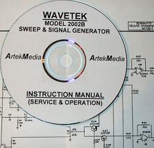 Wavetek 2002b Sweep Amp Signal Generator Instruction Manual Operating Amp Service