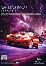 2011 Infiniti G37 Coupe - red - Classic Vintage Advertisement Ad H46