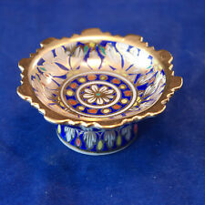 Beautiful Small Dish In Porcelain Hand Decorated With Flower 6.5 x 3 Cm. Wide