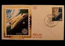 MONACO PREMIER JOUR FDC YVERT  1366       NAVETTE CHALLENGER      2,60F     1983
