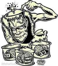 Brains Sticker Decal Art Dirty Donny DD29