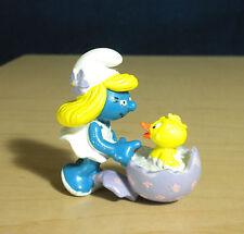 Smurfette Easter Egg Baby Bird Chick Smurf Figure Vintage PVC Toy Lot Peyo 20489