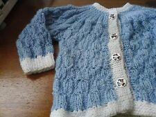 brassiére tricoté  bleu jeans  ou gillet 3 6 mois