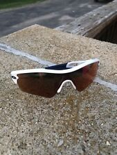 White Oakley Radar Sun Glasses Red/orange Lens