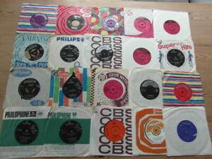 "JOB LOT COLLECTION OF 1960's 7"" 45rpm VINYL SINGLES x 20. VG-EX"