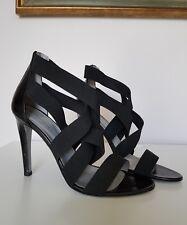 SERGIO ROSSI black bandage sandals (41)